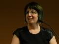 Sarah Cervenak speaking at Spring 2016 Convocation